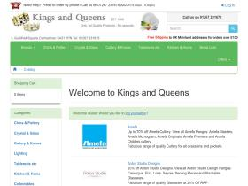 Kings and Queens Discount Codes & Vouchers 2021
